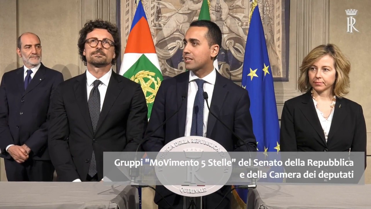 La delegazione del movimento 5 stelle incontra il for Presidente movimento 5 stelle