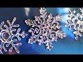 【UVレジン】キラキラ輝く雪の結晶のオーナメントの作り方 snow-crystal ornament re…