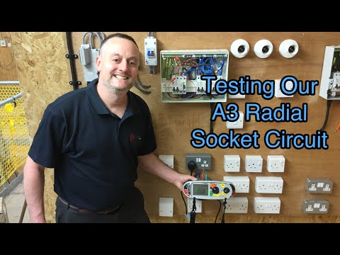 Our A3 Radial Socket Circuit Tested for Continuity of CPC, Polarity and Insulation Resistance