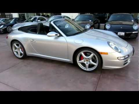 2007 Porsche Carrera S Cabriolet Tiptronic Arctic Silver Black Full Leather 13k miles