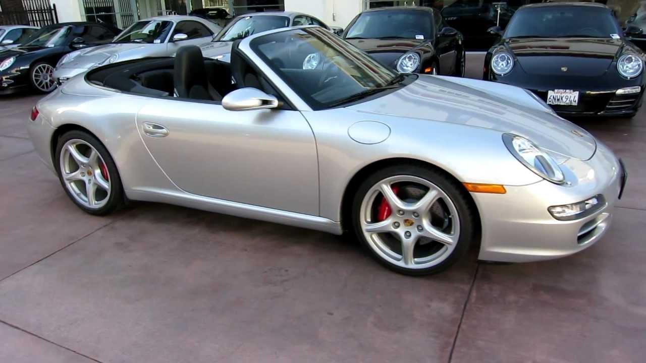 2007 Porsche Carrera S Cabriolet Tiptronic Arctic Silver Black Full Leather 13k Miles