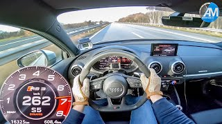 AUDI RS3 Limo - 0-270 km/h Launch Control acceleration🏁