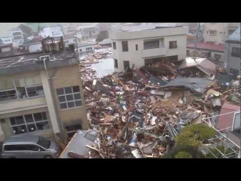 Tsunami at Kamaishi City Office, Iwate Prefecture