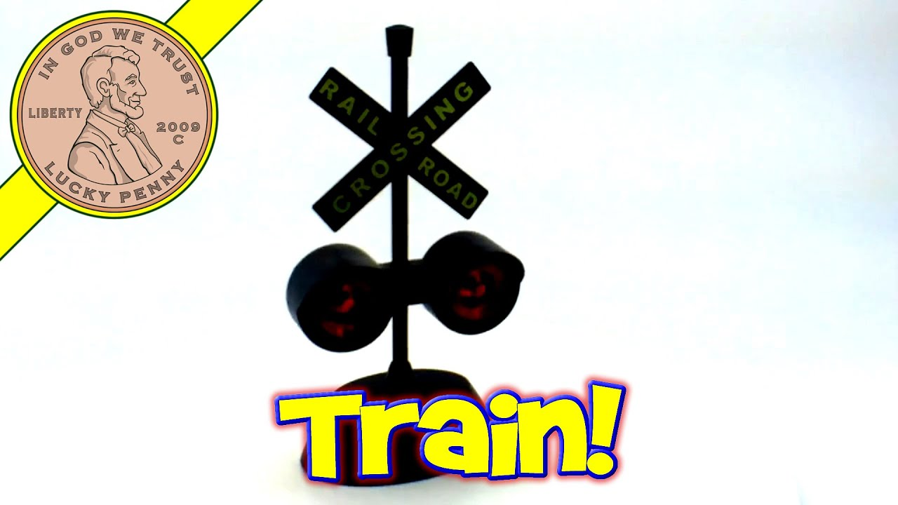 Red Flashing Lights Railroad Crossing Train Track Set Toy Kids Toy Reviews