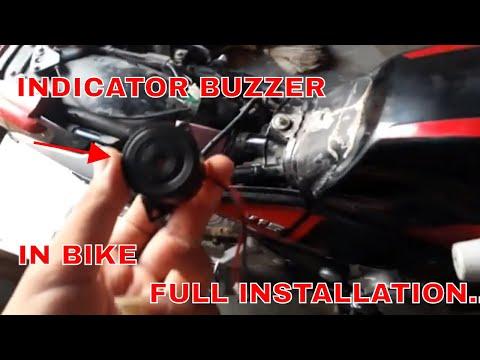 How to install indicator BUZZER in any bike , bajaj v, pulsar, splendor all bikes