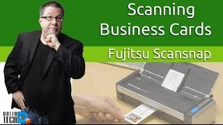Scanning Business Cards Using a ScanSnap