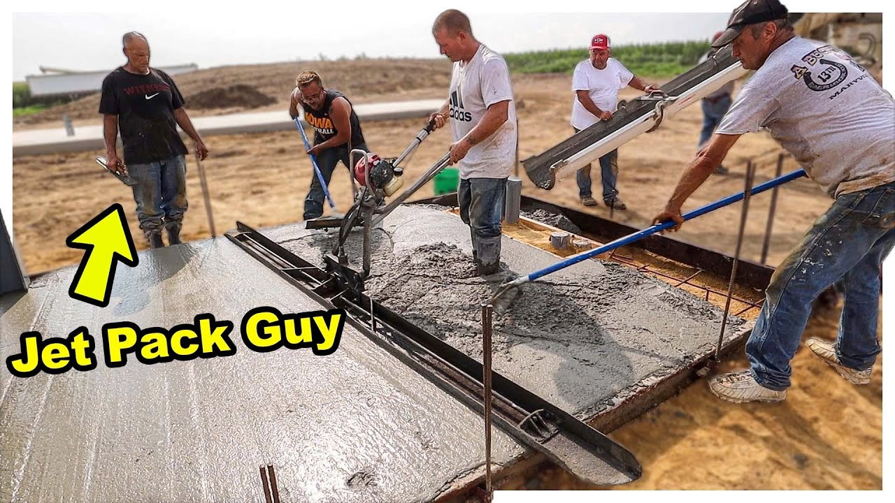 Pouring New Concrete + Gas Powered Jet Pack!