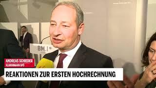 Reaktionen nach erster Hochrechnung: Andreas Schieder