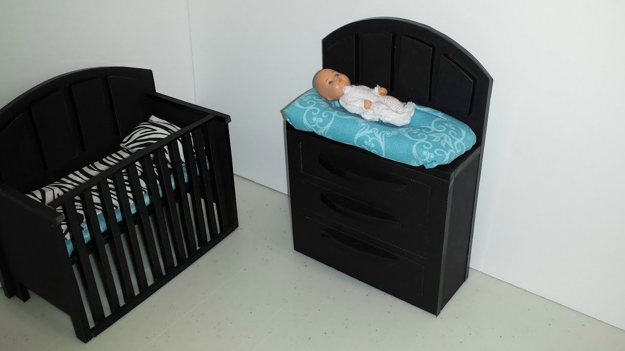 How To Make A Doll Baby Changing Table You