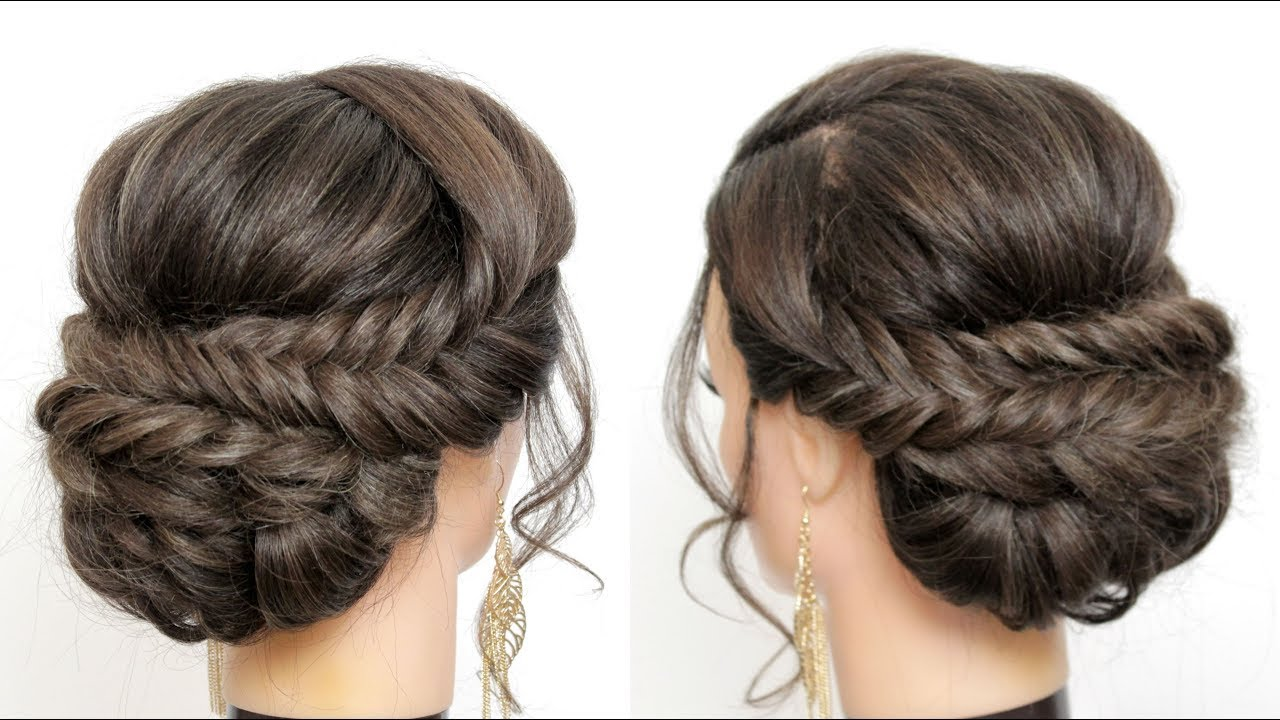 Braided Updo Tutorial Prom Wedding Hairstyles For Long Hair