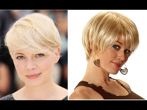 Hairstyles For Round Faces – Short Blonde