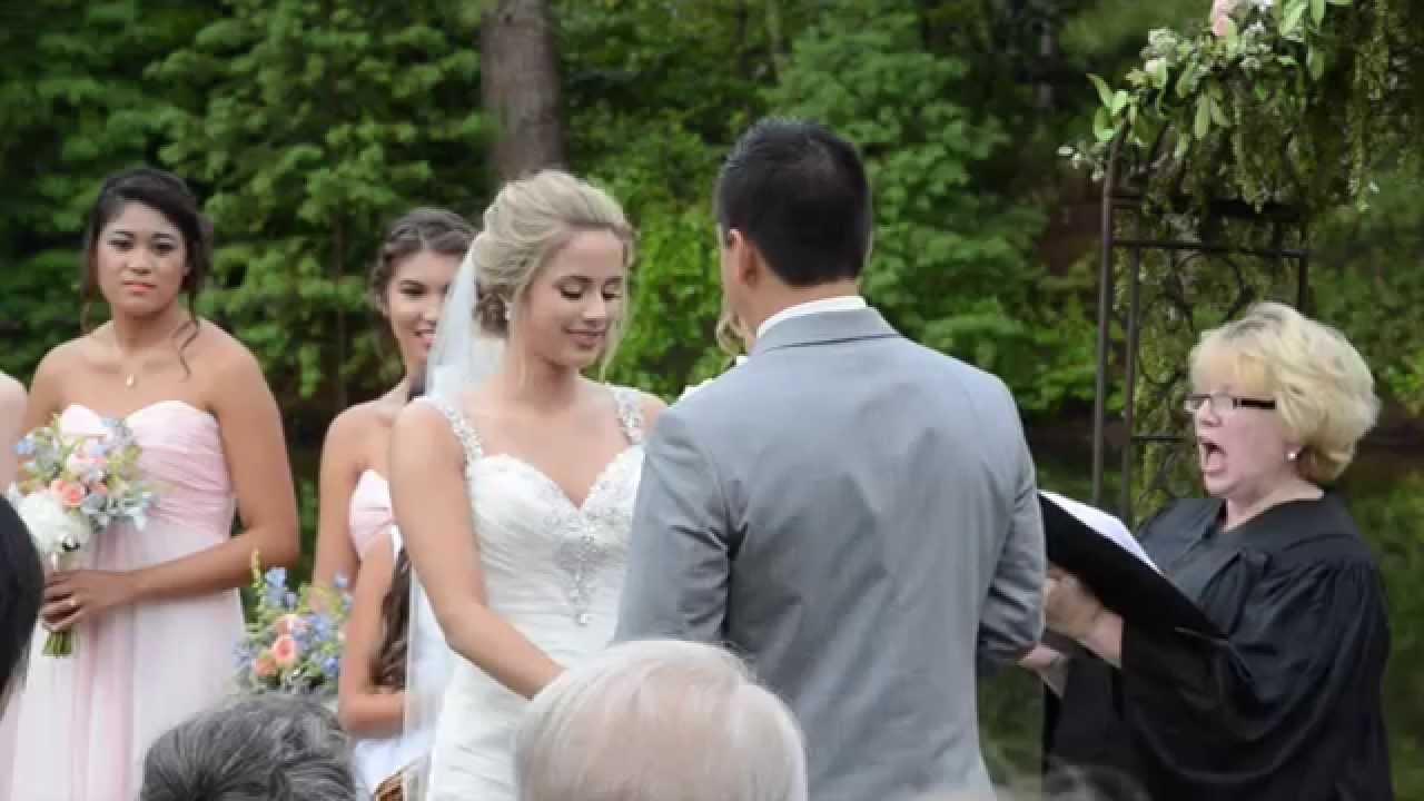 Outdoor Wedding Ceremony At Aldridge Gardens In Hoover, AL