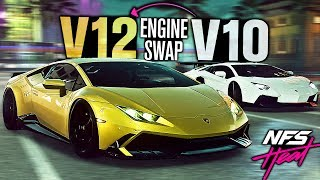 Need for Speed HEAT - Lamborghini V12 Huracan & V10 Aventador Engine Swaps!