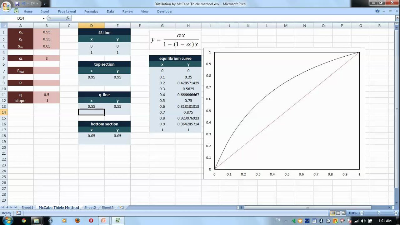 how to draw a system diagram narva 7 pin flat trailer plug wiring excel for chemical engineers i 30 binary distillation - mccabe thiele method (3) youtube