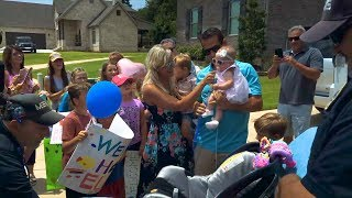 Parents Shocked By Heartwarming Homecoming For Baby with Rare Genetic Disorder