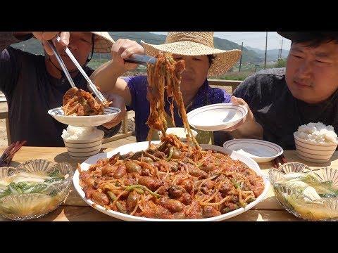 입 안에서 톡톡 터지는 [[미더덕찜(Braused Water sea squirt)]] 요리&먹방!! - Mukbang eating show
