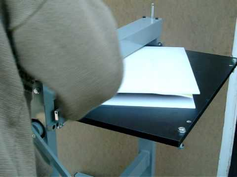 Paper box cutting with Paperfox H-1 cylinder die cutting machine