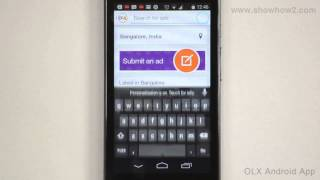 OLX Android App - How To Search For A Product