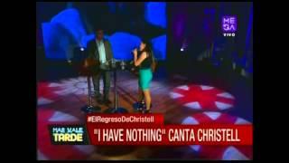 """Christell Rodríguez canta """"I have nothing"""" en Más Vale Tarde"""