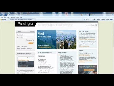 How to update Prestigio GPS Navigator maps online