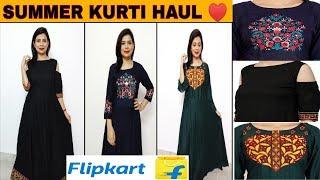 Affordable floor length summer kurti haul under rs 650 | flipkart kurti haul | flipkart kurti review