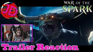 War of the Spark Trailer - 10 year old REACTS