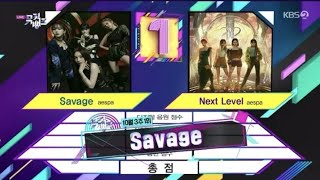 aespa 에스파 'Savage' 2nd Win On Music Bank
