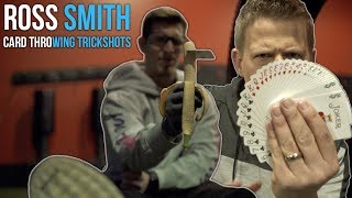 Card Throwing Trick Shots with Ross Smith | Rick Smith Jr.
