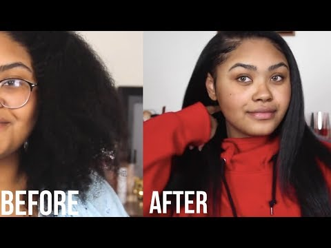 CURLY TO STRAIGHT (3C 4A Hair) | KennieJD