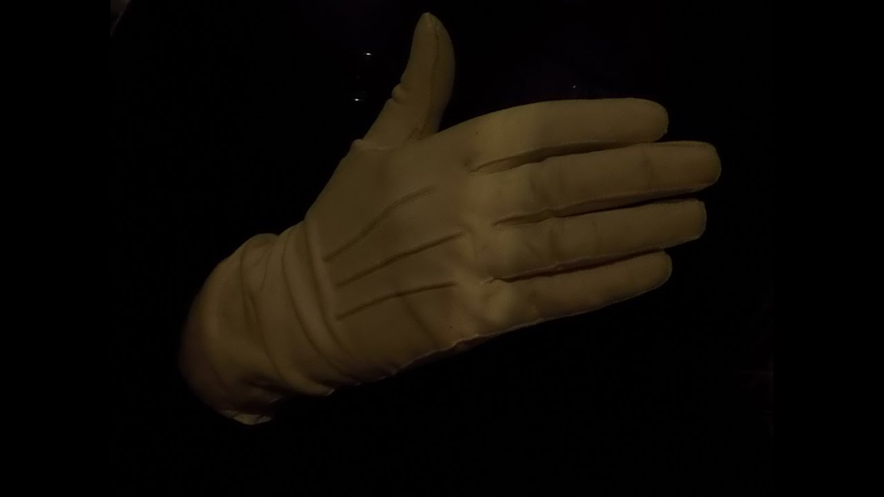 Skin tight leather driving gloves - Very Tight Calf Skin White Leather Gloves Finger Flexing