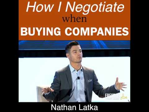 How I Negotiate When Buying Companies