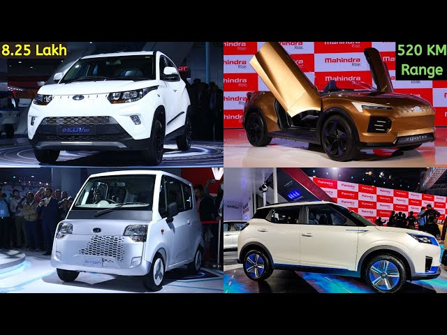 Mahindra eKuv 100,eXUV 300,Funster,Quadricycle | Auto Expo 2020