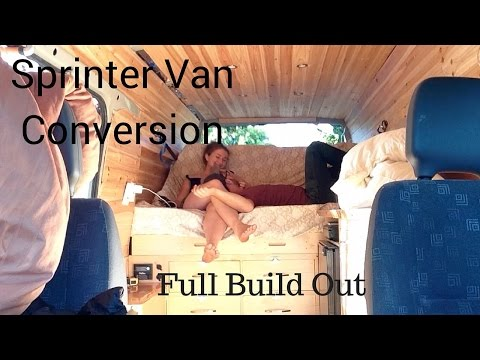 Sprinter Van Conversion -  Full Build Out!! (timelapse)