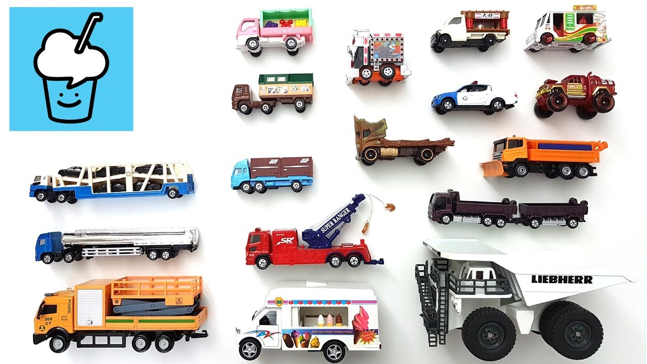 Download Different Trucks Types Vehicles Toys Collection