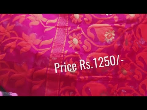 Soft Dhakai Jamdani AllOver Work With Price  #11 Womens Clothes Shop Online Shopping