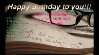Tuyển tập bài hát chúc mừng sinh nhật trên các nước