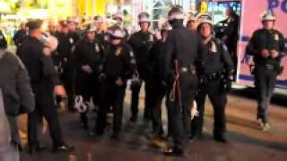 [Occupytimessquare] Marine tells Police to stop brutilizing the protesters! (BklynJHandy)