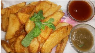 crispy  potato wedges/easy tasty snack recipe in tamil