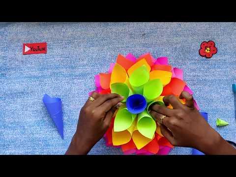 How to make Paper Dahlia | Door Wreath | 2min satisfying video