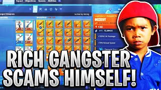 Rich Gangster Scammer Scams Himself! (Scammer Gets Scammed) Fortnite Save The World