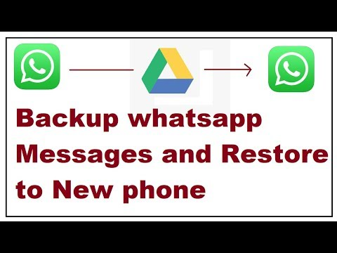 how to backup whatsapp messages and restore to new phone