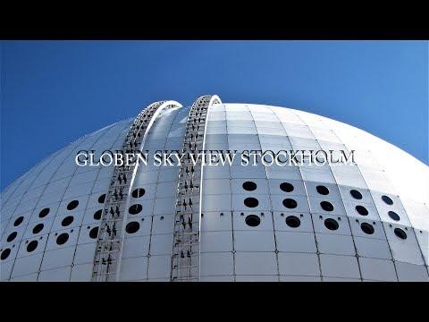 GLOBEN SKY VIEW STOCKHOLM. ERICSSON GLOBE. TELE2 ARENA. 4K