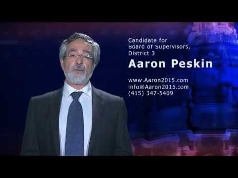 Aaron Peskin - Candidate for the Board of Supervisors, District 3