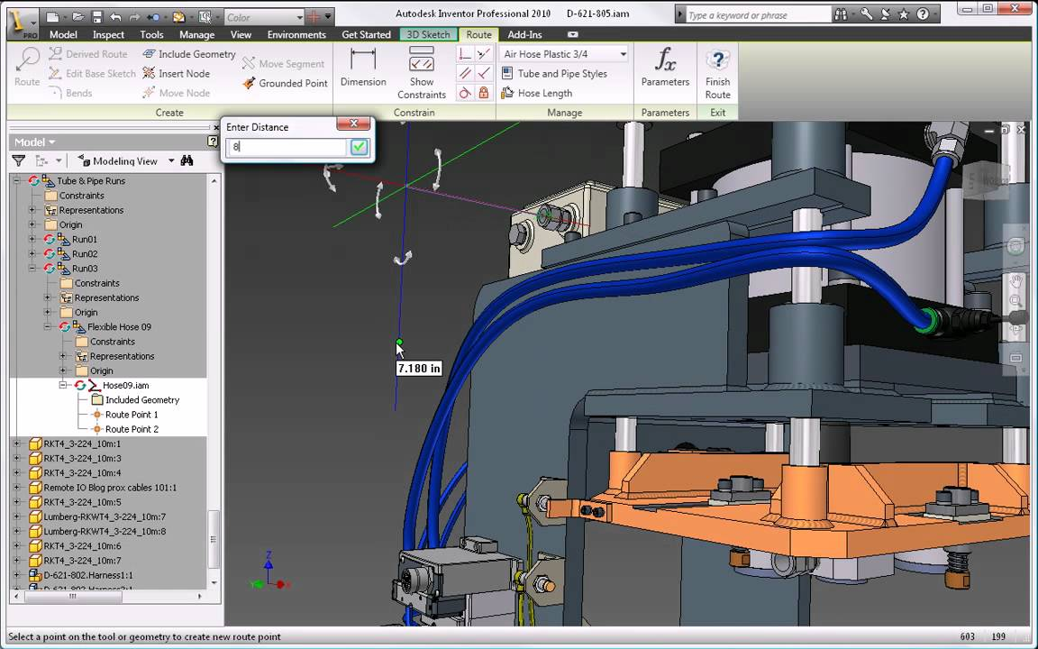 Autodesk Inventor 2010 Tube And Pipe Design Youtube