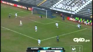Resumen Alianza: Lima 2-1 San Martín (Copa Movistar Torneo Clausura)