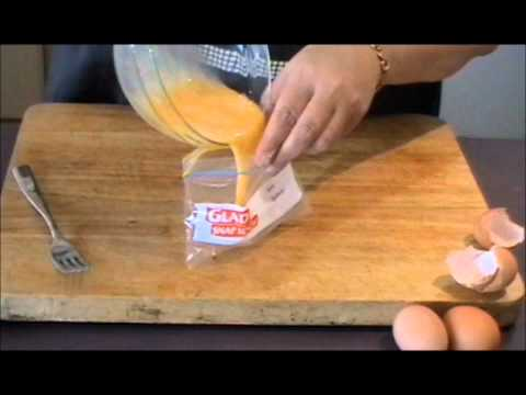 OMELETTE IN A BAG - QUICK, EASY, DELICIOUS