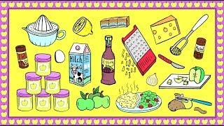 Essen in Deutschland: Einkaufen und Kochen / Deutsch lernen / learn German: shopping and cooking
