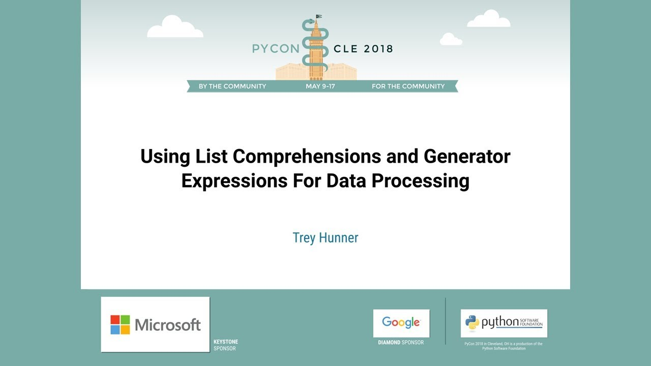 Image from Using List Comprehensions and Generator Expressions For Data Processing