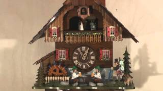 Cuckoo Clock 8-day-movement Chalet-style 38cm By Hekas