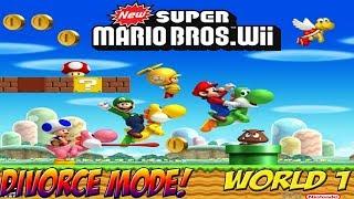 Wii: New Super Mario Bros. Wii! Divorce Mode World 1 - YoVideogames